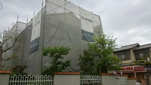■工事始まりました。■外壁工事 生駒市 N様邸