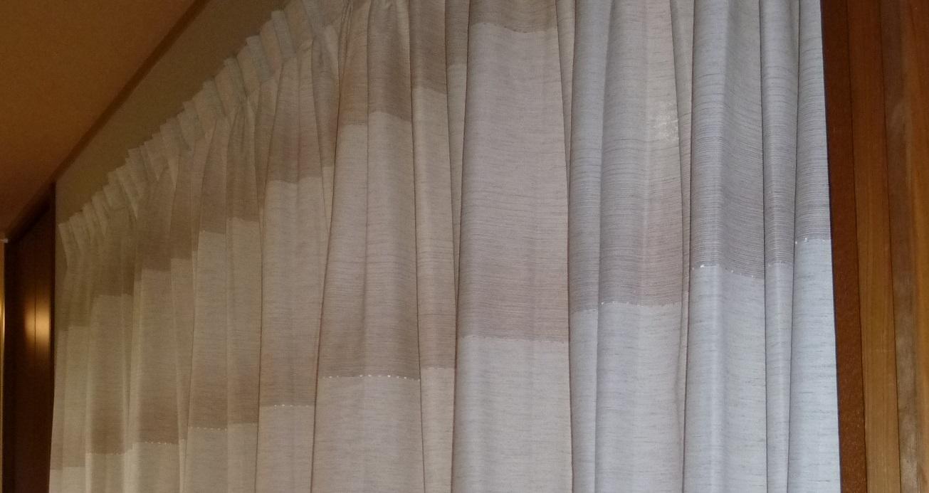 ■完工いたしました 間仕切りカーテン取付 平群町I様邸
