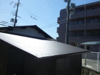■生駒市U様邸 倉庫屋根改修完工しました